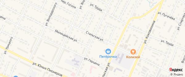 Улица Карла Либкнехта на карте Омутнинска с номерами домов