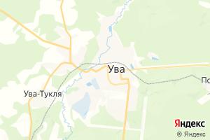 Карта пгт Ува Удмуртская Республика