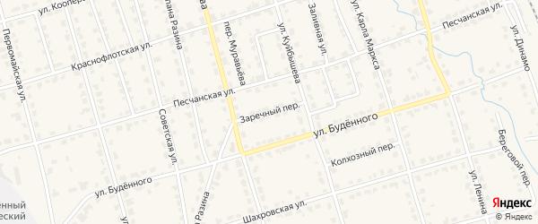 Заречный переулок на карте Омутнинска с номерами домов