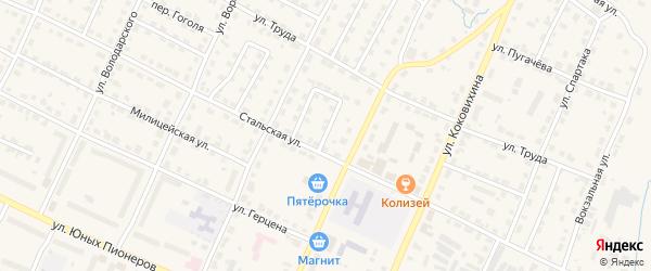Переулок Кошевого на карте Омутнинска с номерами домов