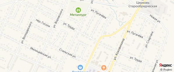 Улица Труда на карте Омутнинска с номерами домов