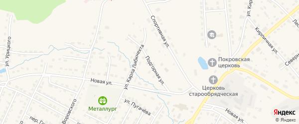 Подгорная улица на карте Омутнинска с номерами домов