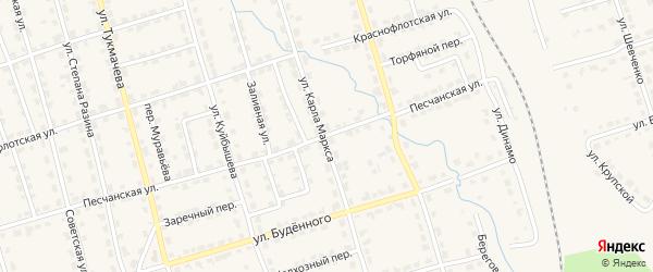 Песчанская улица на карте Омутнинска с номерами домов