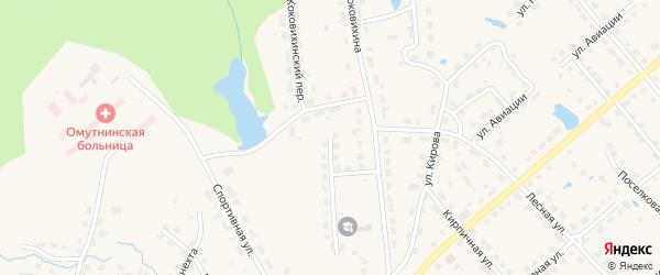 Коковихинский переулок на карте Омутнинска с номерами домов