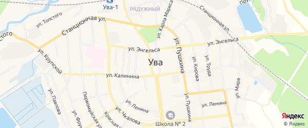 Территория СНТ Лесной-1 на карте Увинского района Удмуртии с номерами домов