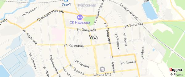 Автодорога Ижевск-Ува-Кулябино на карте Увинского района Удмуртии с номерами домов