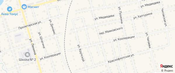 Переулок Морозова на карте Омутнинска с номерами домов
