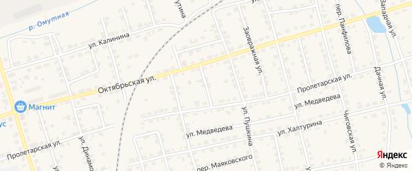 Залазнинский переулок на карте Омутнинска с номерами домов