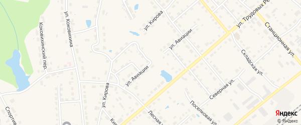 Поселковая улица на карте Омутнинска с номерами домов