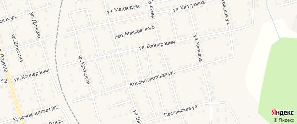 Переулок Осипенко на карте Омутнинска с номерами домов