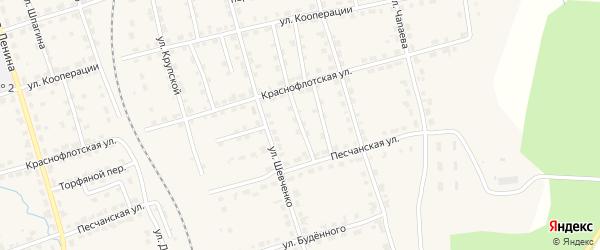 Сельский переулок на карте Омутнинска с номерами домов