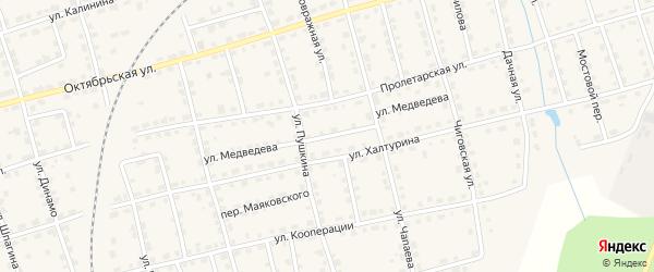 Улица Медведева на карте Омутнинска с номерами домов