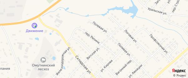 Переулок Репина на карте Омутнинска с номерами домов