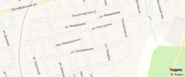 Переулок Суворова на карте Омутнинска с номерами домов