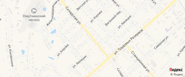 Складская улица на карте Омутнинска с номерами домов