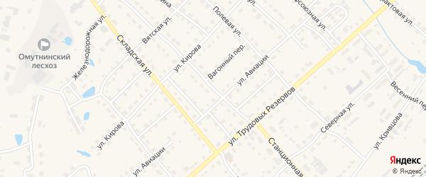 Станционная улица на карте Омутнинска с номерами домов