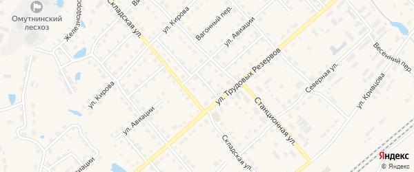 Перронный переулок на карте Омутнинска с номерами домов