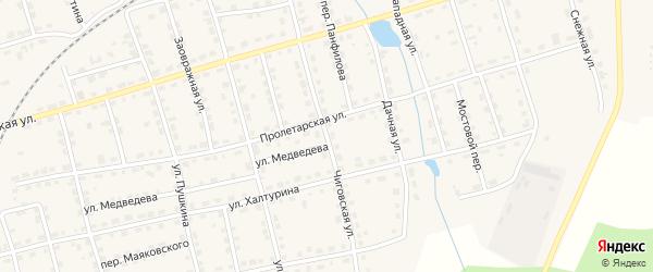 Чиговская улица на карте Омутнинска с номерами домов