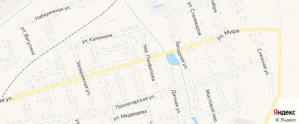 Переулок Панфилова на карте Омутнинска с номерами домов