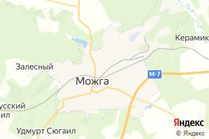 Карта г. Можга Удмуртская Республика