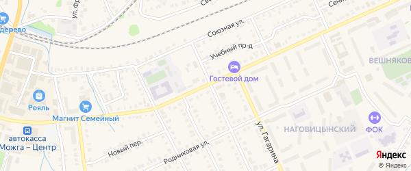 Улица Наговицына на карте Можги с номерами домов