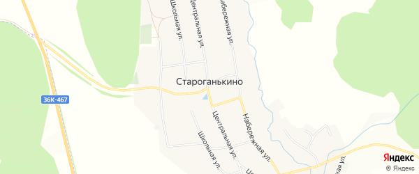 Карта села Староганькино в Самарской области с улицами и номерами домов