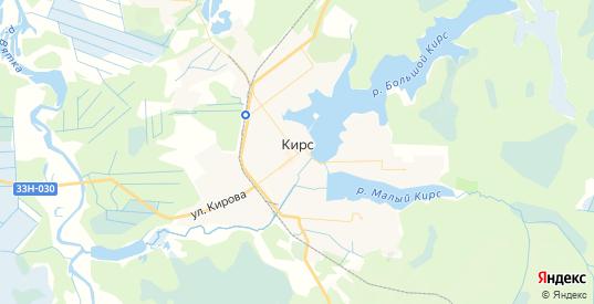 Карта Кирса с улицами и домами подробная. Показать со спутника номера домов онлайн