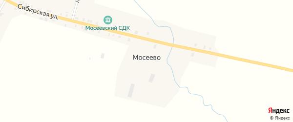 Школьная улица на карте деревни Мосеево Удмуртии с номерами домов