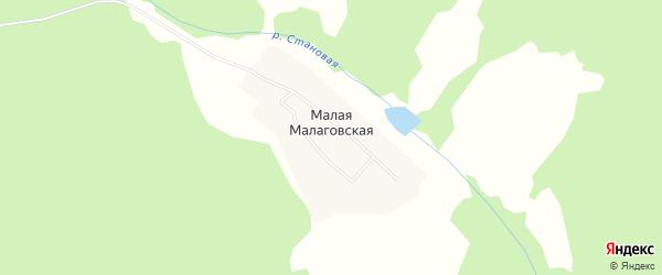 Карта Малой Малаговская деревни в Кировской области с улицами и номерами домов