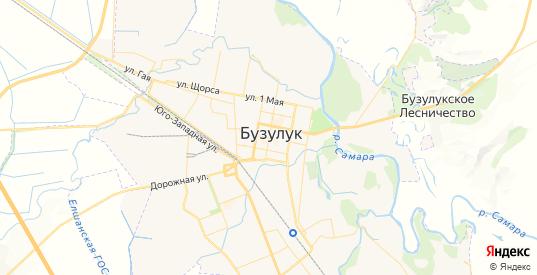 Карта Бузулука с улицами и домами подробная. Показать со спутника номера домов онлайн