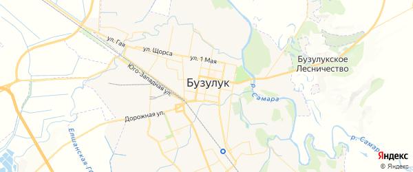 Карта Бузулука с районами, улицами и номерами домов