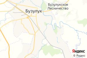 Карта г. Бузулук Оренбургская область