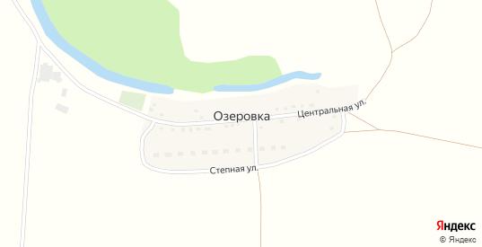 Центральная улица в поселке Озеровка в Бугуруслане с номерами домов на карте. Спутник и схема онлайн