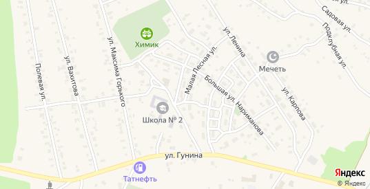 Малая лесная улица в Менделеевске с номерами домов на карте. Спутник и схема онлайн
