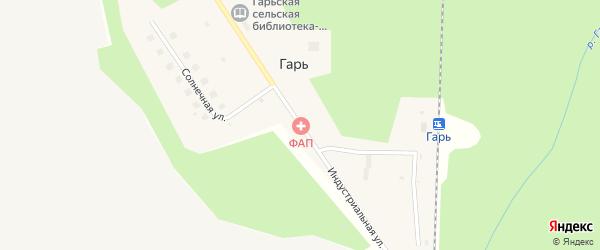 Индустриальная улица на карте поселка Гари Кировской области с номерами домов