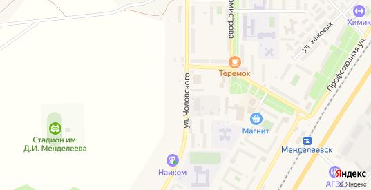 Улица Чоловского в Менделеевске с номерами домов на карте. Спутник и схема онлайн
