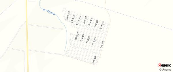 Карта садового некоммерческого товарищества Ромашки-1 в Татарстане с улицами и номерами домов