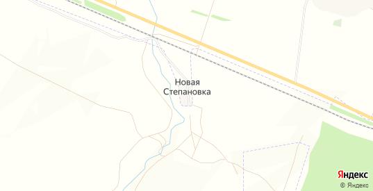 Карта поселка Новая Степановка в Бугуруслане с улицами, домами и почтовыми отделениями со спутника онлайн