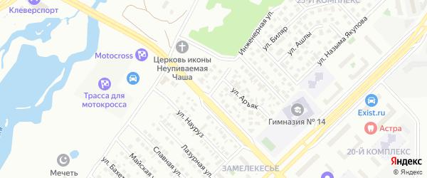 Инженерная улица на карте Набережных Челнов с номерами домов