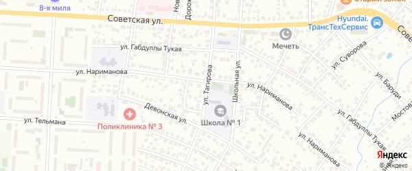 Улица Тагирова на карте Альметьевска с номерами домов