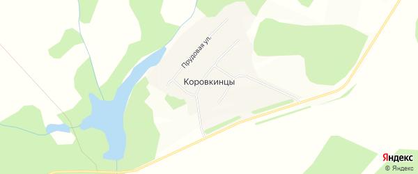 Карта деревни Коровкинцы в Удмуртии с улицами и номерами домов