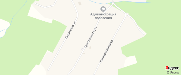 Центральная улица на карте села Кокмана Удмуртии с номерами домов