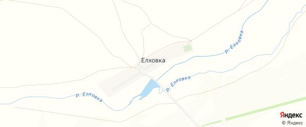 Карта села Елховки в Оренбургской области с улицами и номерами домов