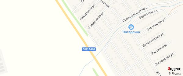 Посадская улица на карте деревни Суровки Татарстана с номерами домов