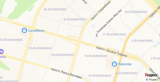 Карта населенного пункта Замелекесье в Набережных Челнах с улицами, домами и почтовыми отделениями со спутника онлайн