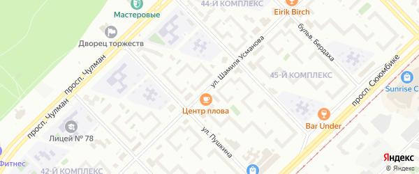 Улица Шамиля Усманова на карте Набережных Челнов с номерами домов