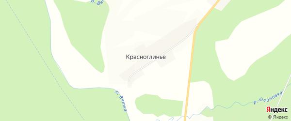 Карта села Красноглиньего в Кировской области с улицами и номерами домов