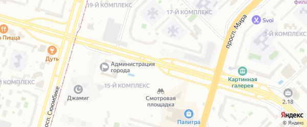 Проспект Хасана Туфана на карте Набережных Челнов с номерами домов