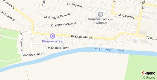 4-й Кировский переулок в Бугуруслане с номерами домов на карте. Спутник и схема онлайн