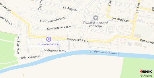 Кировская улица в Бугуруслане с номерами домов на карте. Спутник и схема онлайн